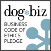 dog biz business code of ethics pledge logo